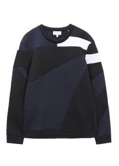 [Men] NYLON PIQUE SPACER LONG SLEEVES SWEATSHIRT