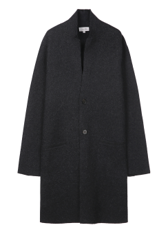[Men] EXTRAFINE MERINO BOILED WOOL L/S BUTTON UP COAT