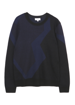 [Men] EXTRAFINE MERINO BOILED WOOL JACQUARD LONG SLEEVES TOP