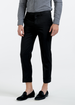 [Men] Cropped tailored pants with cuff