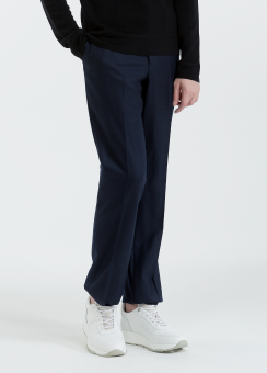 [Men] Brushed wool twill pants half lined