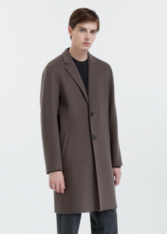 [Men] Dense felt tailored coat hand-stitch