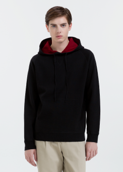 [Men] Soft wool cotton ls hooded top