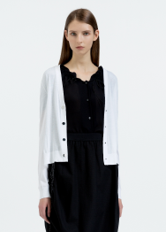 [Women] Cotton cardigan with sleeve detail