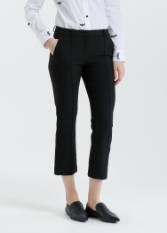 [Women] Double weave stretch cropped pants