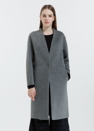 [Women] Cash wool blend V-neck coat