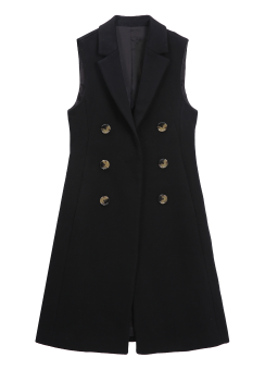 [Women] DENSE FELT SLEEVELESS LONG COAT -FULLY LINED