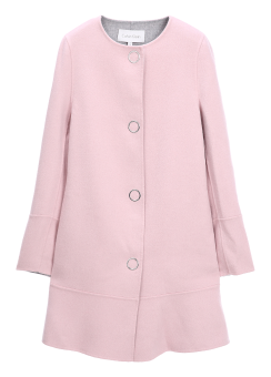 [Women] DOUBLE FACE WOOL CASHMERE DRESS COAT - HAND-STITCH