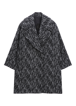 [Women] FELTED WOOL JACQUARD EASY COAT -FULLY LINED