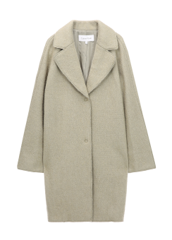 [Women] Warm textured basic coccon coat