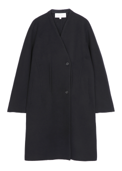 [Women] BLACK/WHITE COMBO COAT