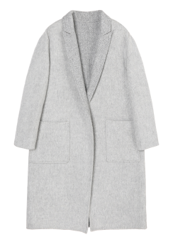 [Women] Drop shoulder basic long coat