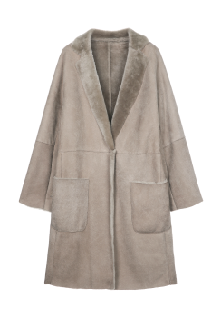 [Women] Shearling long coat