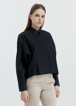 [Women] Soft dense poplin easy top