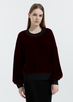 [Women] Smooth cupro velvet easy top