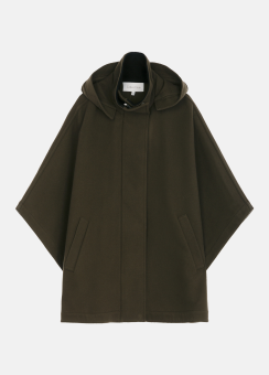[Women] Military wool hoodie outerwear