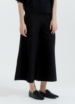 [Women] Merino wool knitted pants