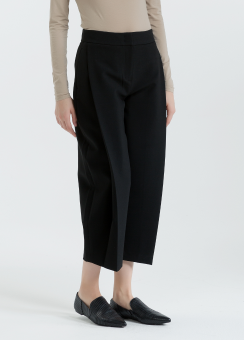 [Women] Double weave stretch circular pants