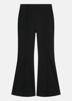 [Women] Tucked wool pants - half lined
