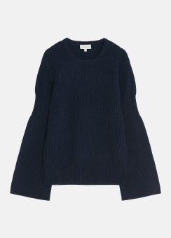 [Women] Wool cashmere l/s top
