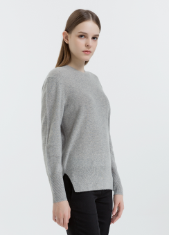 [Women] Lux fine gauge cashmere basic top