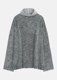 [Women] Supersoft boiled cashmere with structure wool l/s top