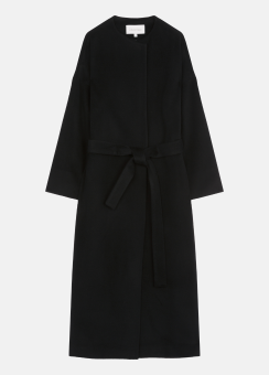 [Women] Mossa round neck maxi coat