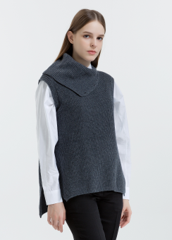 [Women] Turtle neck layering vest