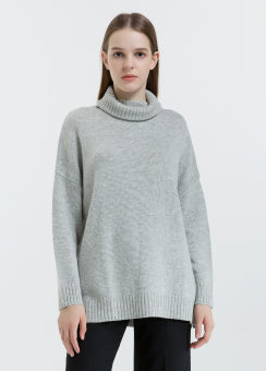 [Women] Turtle neck loose fit pullover