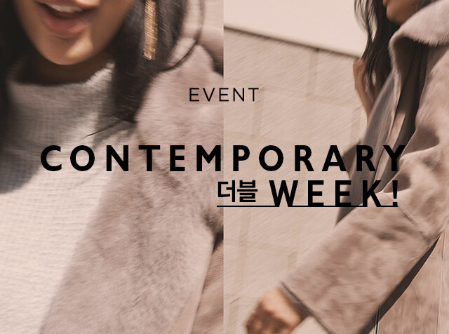 [H패션몰] CONTEMPORARY BRANDS <br> HEAVY OUTER & SWEATERS X  더블 적립
