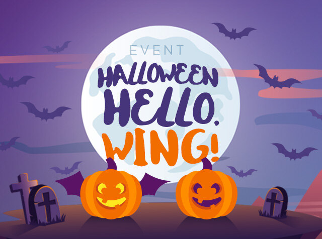 HALLOWEEN, HELLO WING!<br> 날개달린 호박 찾으면 100% 당첨!