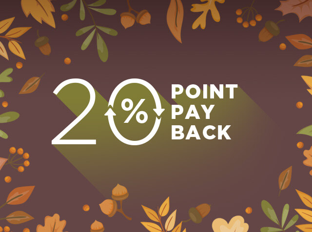 2018 F/W 신상품<br> 20% POINT PAYBACK!