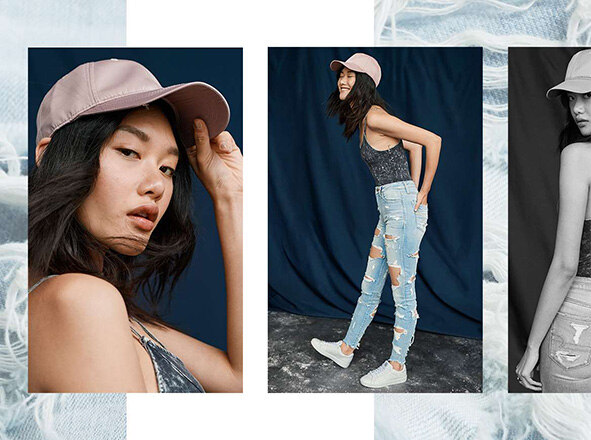 AMERICAN EAGLE OUTFITTERS <br> GIRL MEETS GRUNGE
