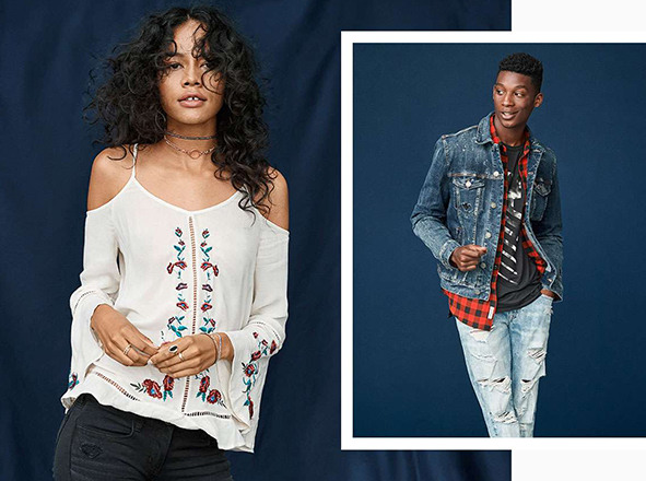 AMERICAN EAGLE OUTFITTERS <br> 이 가을 꼭 필요한 남/여 에센셜 아이템