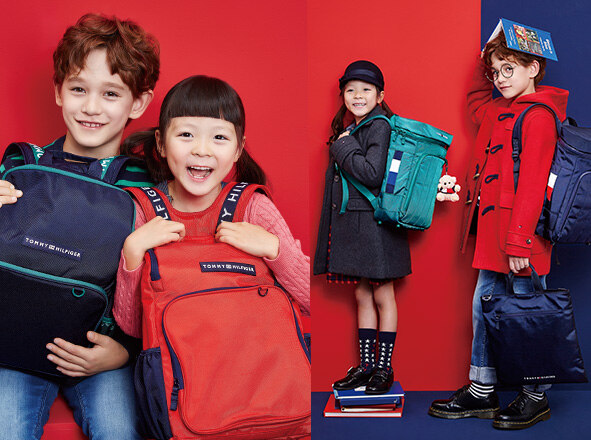 TOMMY HILFIGER KIDS<br> '18SS 신학기 가방<br> UP TO 50% OFF