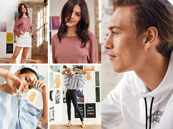 AMERICAN EAGLE OUTFITTERS<br>봄쇼핑을 위한 놀라운 가격★<br>BASIC IS THE BEST