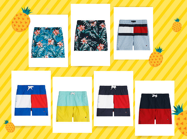 TOMMY HILFIGER KIDS<br> ONLINE EXCLUSIVE<br> KIDS SWIMWEAR