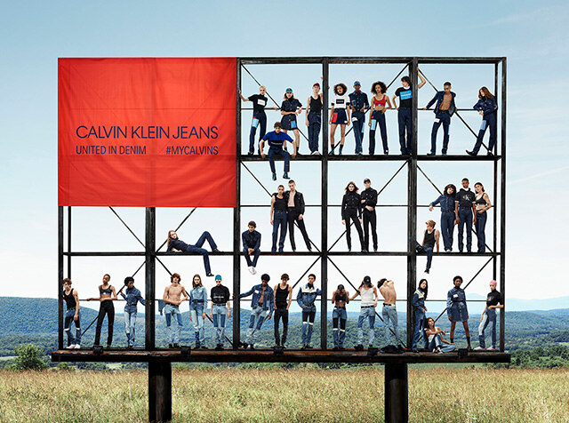 CALVIN KLEIN JEANS<br> TOGETHER IN DENIM