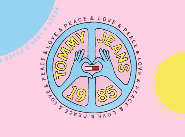 TOMMY JEANS<br> H패션몰 LIMITED EDITIONS<br> PEACE & LOVE