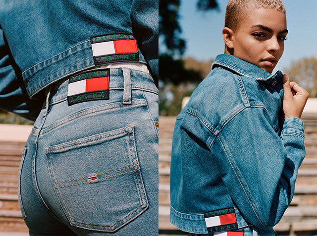 TOMMY JEANS<br> TUNE IN TO 100%<br> RECYCLED DENIM