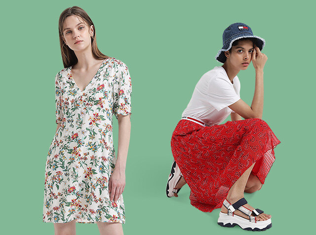 TOMMY JEANS for Women<br>DRESS/SKIRT SHOP<br>썸머 에센셜 아이템 추천