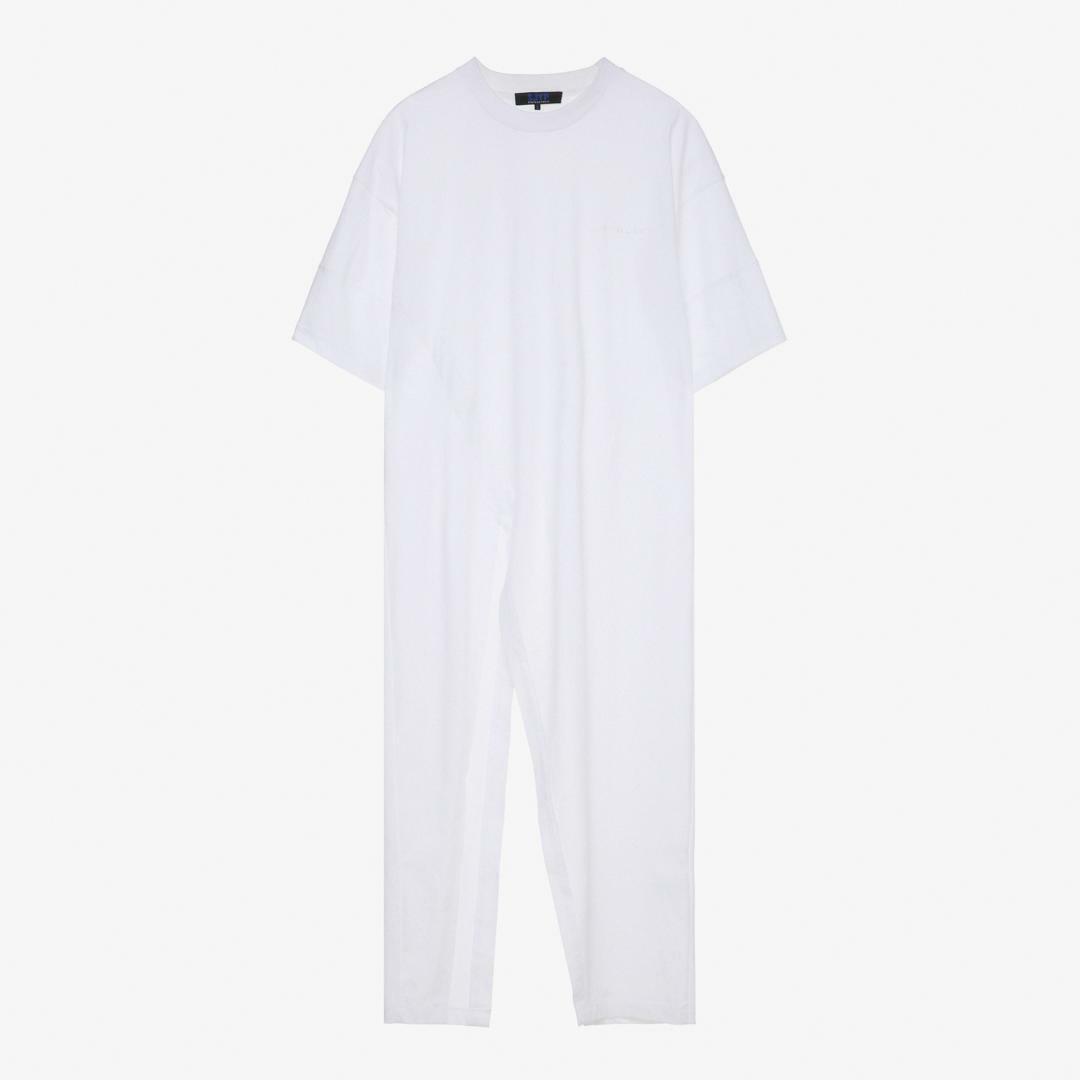 에스제이와이피(SJYP) 면 바이어스 컷팅 롱 티셔츠 PCMT2WX02000 001