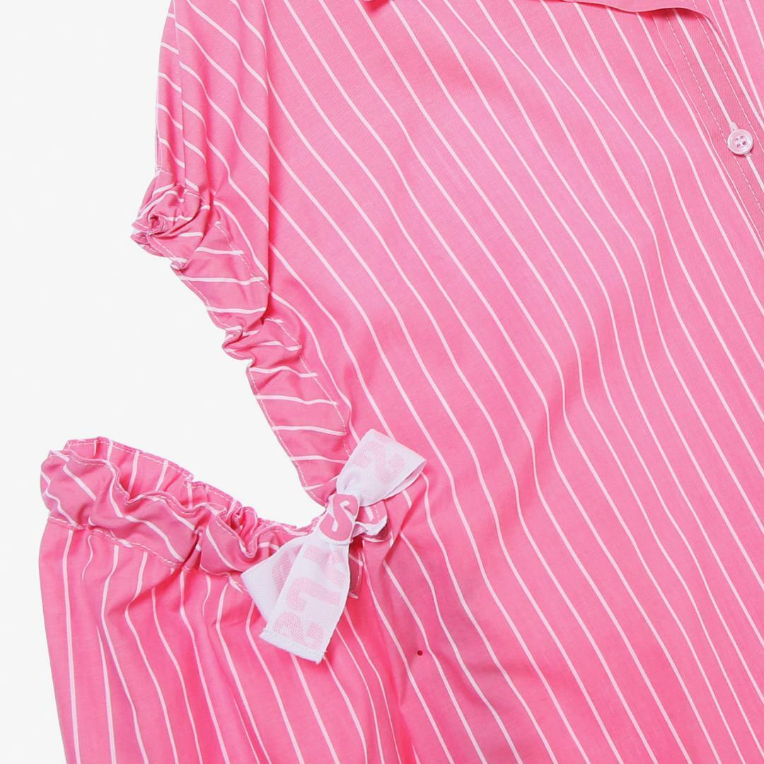 에스제이와이피(SJYP) 면 혼방 스트라이프 숄더 오픈 셔츠 PW1J9WBL010W PK