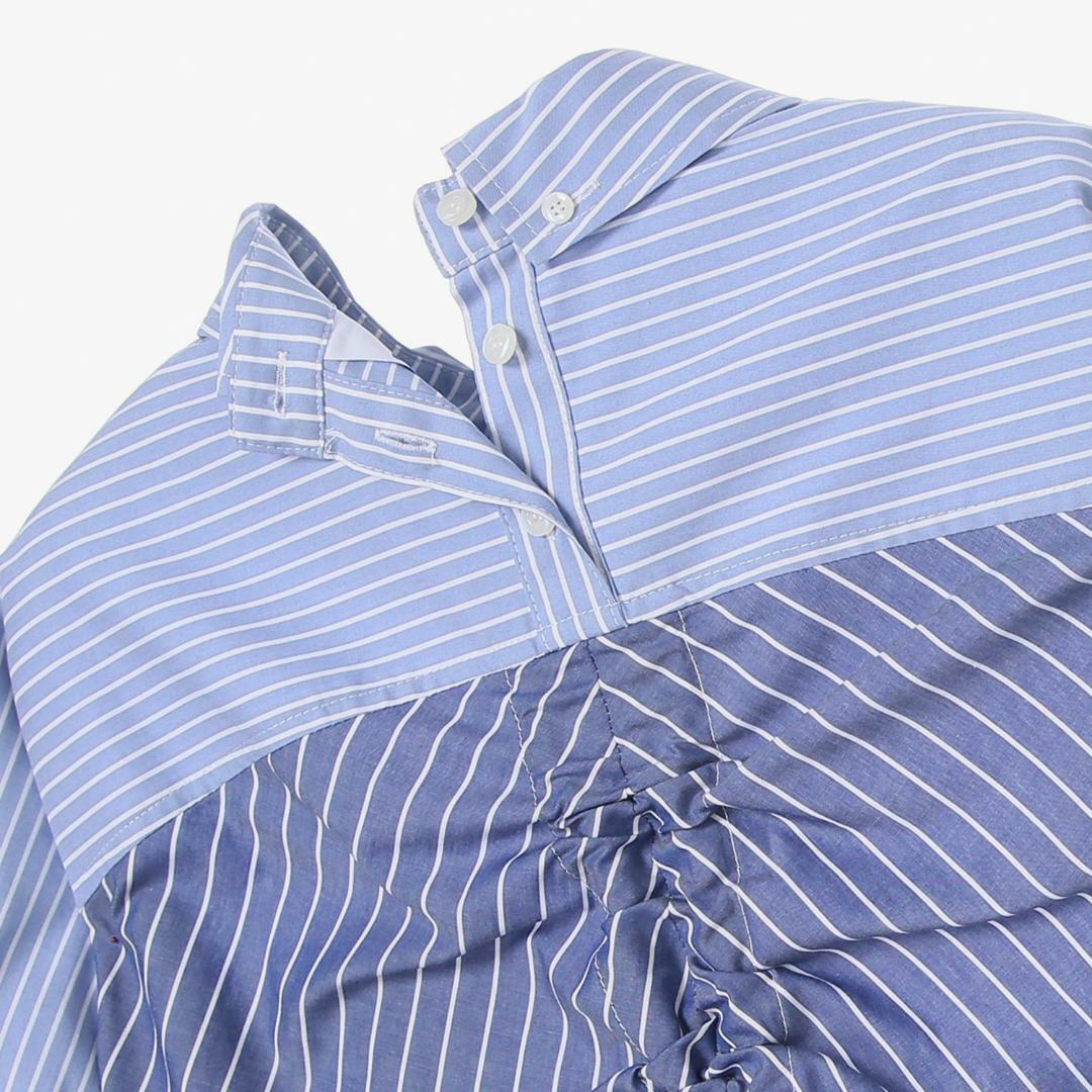 에스제이와이피(SJYP) 박스핏 백 로고 리본 셔츠 PW1J9WBL020W BL