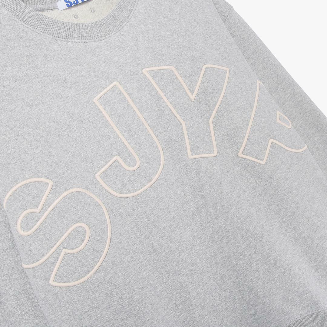 에스제이와이피(SJYP) 면 루즈핏 로고 티셔츠 PW1J9WTS039W GY
