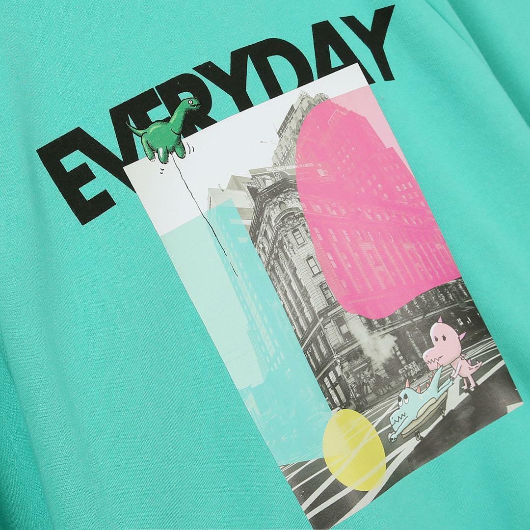 에스제이와이피(SJYP) 면 오버사이즈 그래픽 맨투맨 티셔츠 PW1J9WTS079W MT