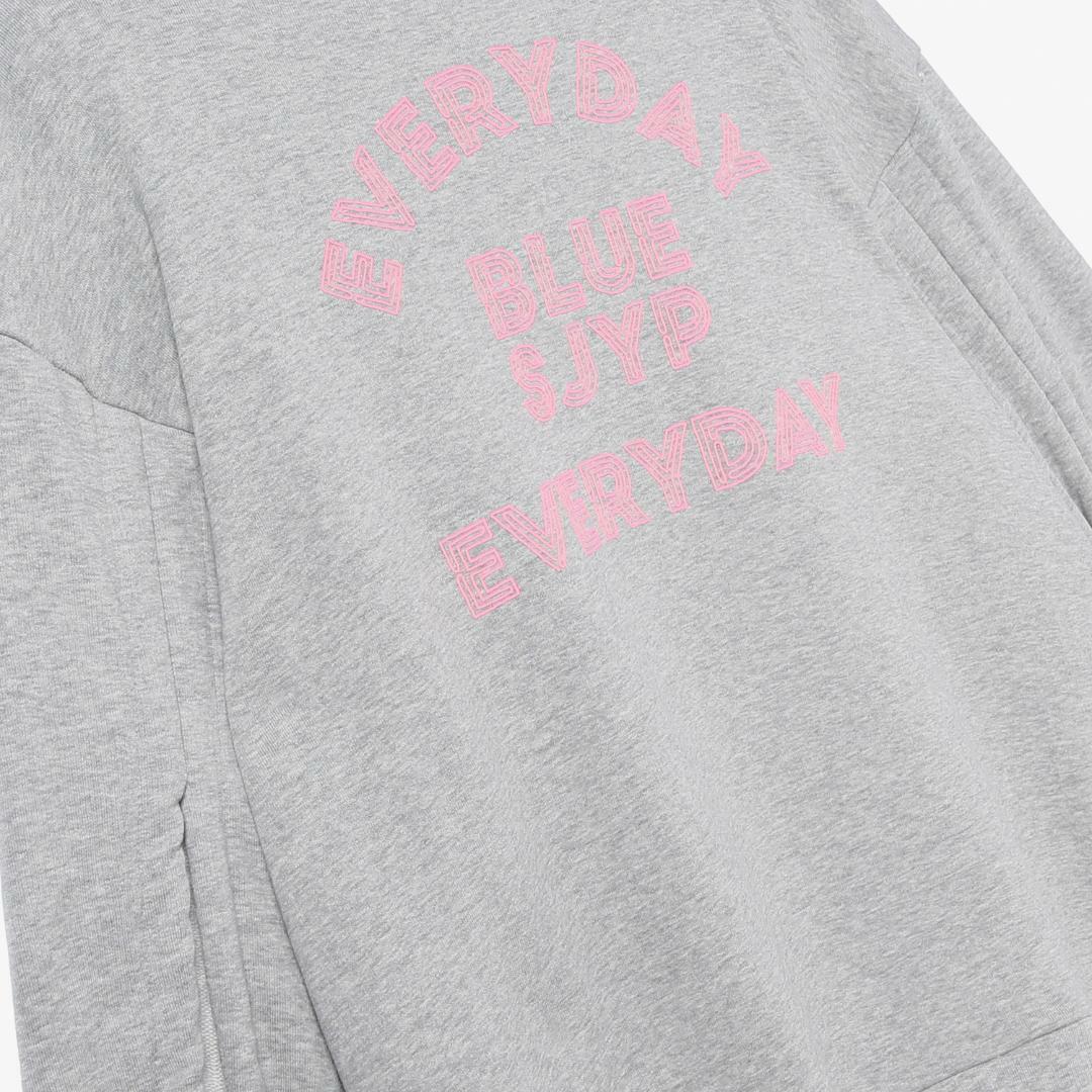 에스제이와이피(SJYP) 면 혼방 사이드 오픈 후드 티셔츠 PW1J9WTS090W GY