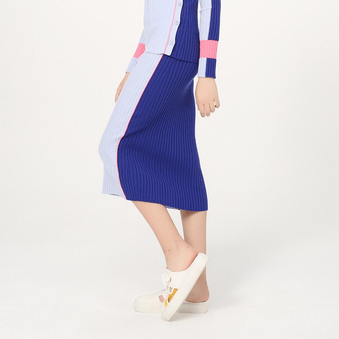 에스제이와이피(SJYP) 니트 h라인 멀티컬러 스커트 PWMT1KS51900 030