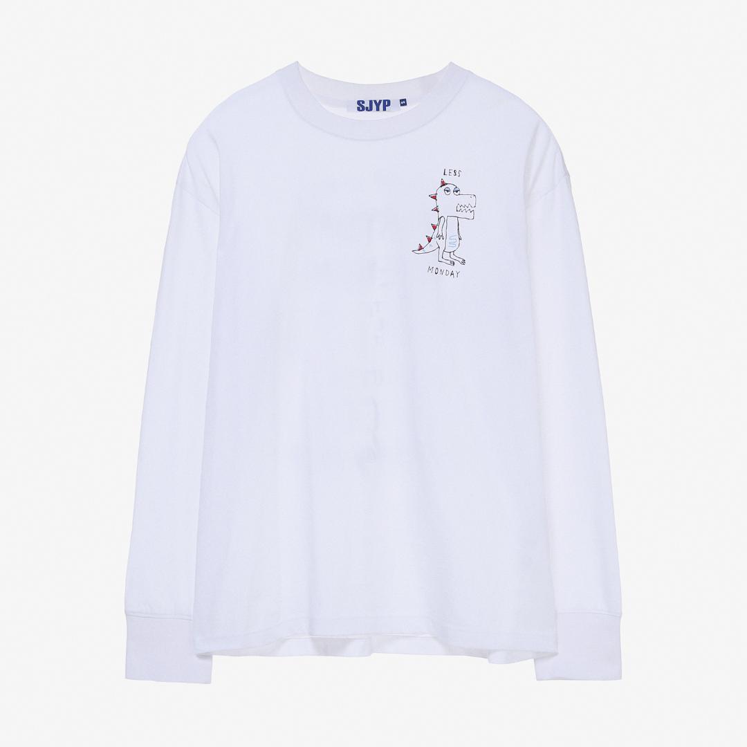 에스제이와이피(SJYP) 면 디노 롱슬리브 티셔츠 PWMT2WX09900 001