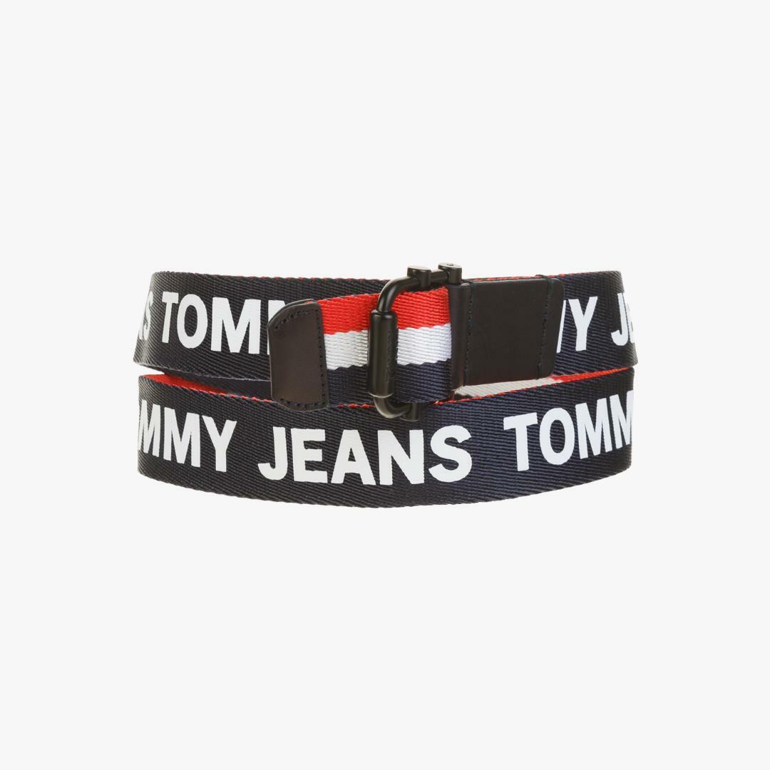 타미진스(TOMMY JEANS) [남성] 폴리 로고 스트라이프 벨트 T31J6ABE032MT1 B79